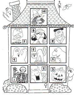 Haunted House File Folder Game