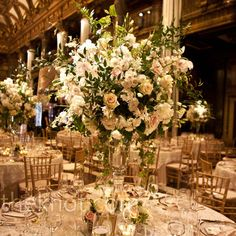 Tall Ivory Centerpieces