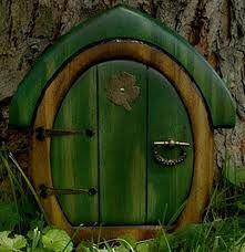 elf door- making a fairy garden for grand kids!
