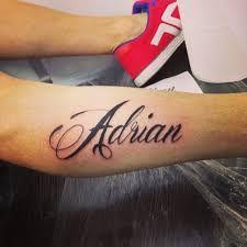 imagenes de tatuajes del nombre de adrian