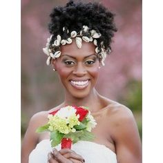 Bridal Headpiece Cowrie Shells with Rhinestones Black Hair Updo Hairstyles, Black Women Hairstyles, Wedding Hairstyles, Natural Hair Styles For Black Women, Short Hair Styles, Natural Hair Wedding, Long To Short Hair, Short Braids, Black Bride