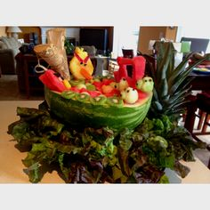 My Angry birds fruit creation for theme party!!!