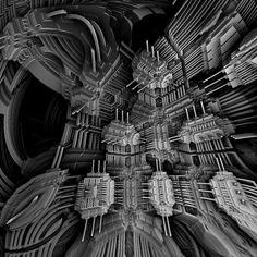 MB3D 795  a network of transistors by Mariagat.deviantart.com on @DeviantArt