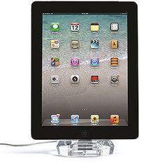 Crystal iPad/iPhone Dock.