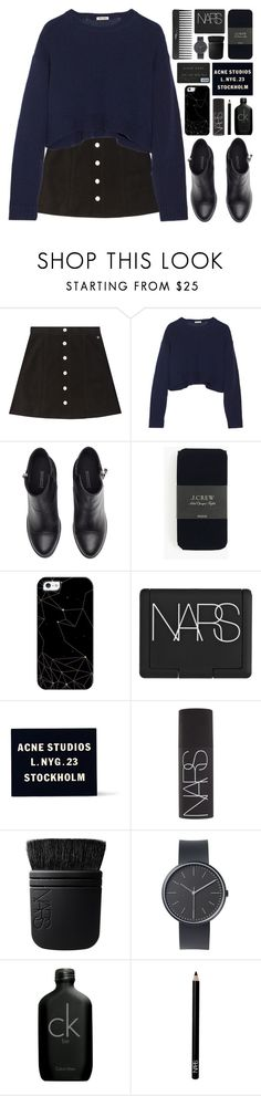"""""""use the sleeves of my sweater let's have an adventure // my dream wardrobe pt.36"""" by undercover-martyn ❤ liked on Polyvore featuring AG Adriano Goldschmied, Miu Miu, H&M, J.Crew, Casetify, NARS Cosmetics, Acne Studios, Sephora Collection, Uniform Wares and Calvin Klein"""