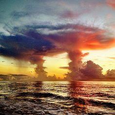 Wild dawn cloudscape.