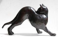CHAT SIAMOIS (de dos), bronze sculpture - Xavier Carnoy