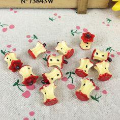 Cheap 10 Piezas de Resina Artificial Fake Miniatura Alimentos Rojo Corazón de…