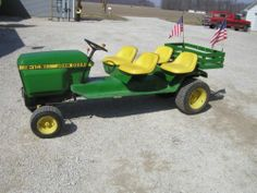John Deere 314 Riding Lawn Tractor Stretched Frame 4 JD Seats Bed Hydro | eBay
