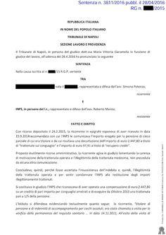 Studio Legale Buonomo (Na / Ce): Patologie non soggette a visito di controllo ed an...
