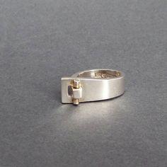 Scandinavian Modernist Ring. Pekka Piekainen Finland. by TheDeeps