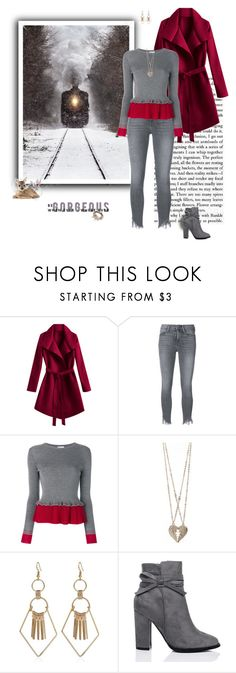 """""""Grey and Red"""" by greerflower ❤ liked on Polyvore featuring Frame, RED Valentino, TALLY WEiJL, SpyLoveBuy and Lizzy James"""