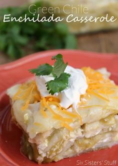 This is one of the simplest casseroles I've ever made! The Green Chile Sauce makes it taste SO good.