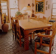 soutwest style painted furniture Southwest Dining Furniture