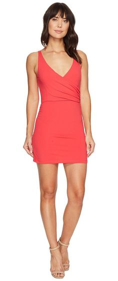 Susana Monaco Wrap Tank Dress (Firecracker) Women's Dress - Susana Monaco, Wrap Tank Dress, S17B0244-514, Apparel Top Dress, Dress, Top, Apparel, Clothes Clothing, Gift - Outfit Ideas And Street Style 2017