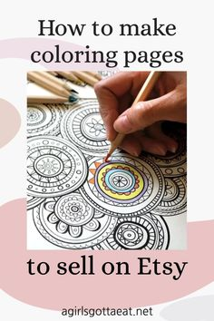 Interested in making coloring pages? This tutorial will walk you through how to make them yourself (no experience necessary) AND how to sell them on Etsy for passive income.