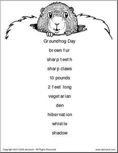 February/Groundhog Day activity: We