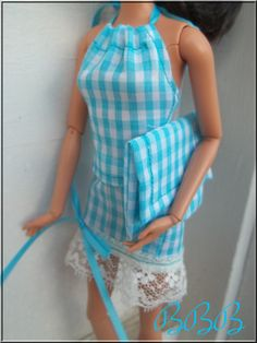 Barbie Doll Clothes Outfit Blue Gingham by BarbieBoutiqueBasics