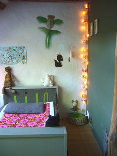 Grey nursery with neon