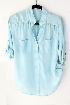 Dust Blue Collin Shirt | Awesome Selection of Chic Fashion Jewelry | Emma Stine Limited