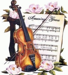 Violin & Sheet Music Downloadable Printable Digital by naturepoet, $4.50