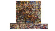 Jose Gomez • AGUA, COLOR CARNAVAL. Diptico. 120 x 150cm.
