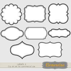free vintage border frames clipart you can use for designing labels rh pinterest com label clip art png label clip art png