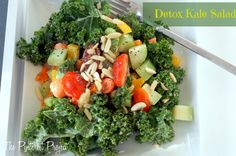 Detox Kale Salad    I am happy to say I have completed my 21 Day Sugar Detox plan - as you read this, it will be day 22, which means I'm officially finished. So...how do I feel?    Great. Down 9ish pounds, and I feel more energetic, less lethargic and less puffy. And it is incredibly cool to realize that I was able to complete the program. If you have ever read or researched the effects of sugar and how much of our food supply contains sugar, you can hopefully understand and appreciate why