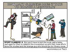 sport climbers climbers to change a lightbulb
