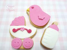 Estrade's cakes: galletas para bebé o bautizo, decoradas con fondant