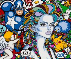 "Oxana Prantl - ""Yes, Captain. No, Captain"", acrylic Paint on canvas. 100 x 120 cm. Pretty Art, Acrylic Painting Canvas, Pop Art, Disney Characters, Fictional Characters, Snow White, Disney Princess, Fantasy Characters, Disney Princes"