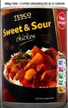 Tesco - tinned Sweet and Sour Chicken
