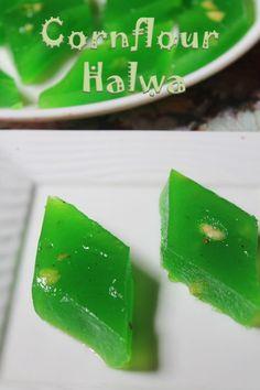 Bombay Karachi Halwa Recipe / Corn Flour Halwa Recipe