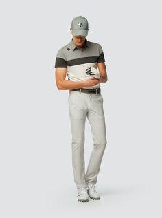 デサントゴルフ 17SS | メンズゴルフウェア | 三段切り替え ショートスリーブシャツ