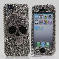 BlingAngels® 3D Luxury Bling iphone 5 5s Case Cover Faceplate Swarovski Crystals Diamond Sparkle bedazzled jeweled Design Front & Back Snap-on Hard Case (100% Handcrafted by BlingAngels) (Large Skull Design) Bling,http://www.amazon.com/dp/B00E9IJHB2/ref=cm_sw_r_pi_dp_ML99sb1NV6QKE9W6