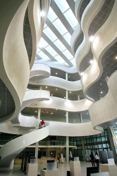 The interior of the University of Le Havre library World University, Rouen, Inside Outside, Le Havre, Architecture, Interior Inspiration, To Go, France, City