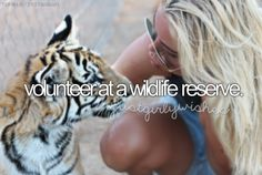Volunteer at a wildlife reserve
