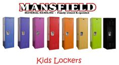 You are buying 2 new Kids Lockers.  They come in any of six colors: Red, Blue, Purple, Pink, Orange, Yellow, Black and Green.  The lockers are brand new, not repaired or used lockers.  These lockers are perfect for a bedroom, mudroom, garage, toy room, and more.  These Kids Lockers are made of steel; they have 1 double hook in them to hang clothes, coats or other items on. There is a place to put a padlock on them, but they do not come with a padlock.  These lockers make great gifts!