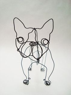 Inspo - French Bull Dog wire sculpture by EleMcKay Art Fil, Every Dog Breed, Wire Art, Sculpture Art, Wire Sculptures, String Art, Metal Art, Art Lessons, French Bulldog