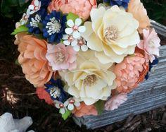Papel ramo  ramo de flores de papel  boda Bouquet  país