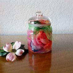 Bottled Bouquet, home decor, bathroom decor, kitchen decor, bathroom shelf, bathroom art, unique gifts, for her, small giftables,silk flowe