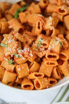Pasta with Vodka Sauce | ChezCateyLou.com