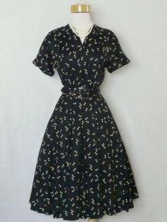 true 40's style swing dress