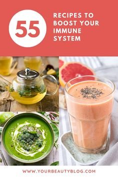 Try one of these 55 immune boosting recipes. They are packed with vitamins, minerals, and antioxidants to support your immune system. Orange Smoothie, Smoothie Prep, Apple Smoothies, Honey Recipes, Real Food Recipes, Soup Recipes, Family Recipes, Healthy Recipes