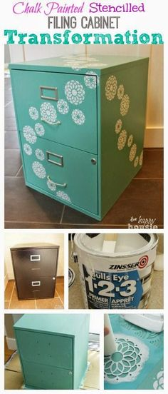 Filing cabinet makeover! #DIY #Home #Crafts Poppy Loves Pinterest: Amazing DIY Home Decor