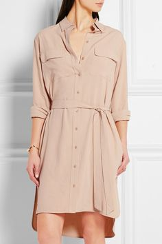 4abaec8058f Beige washed-silk Button fastenings through front 100% silk Dry clean  Designer color