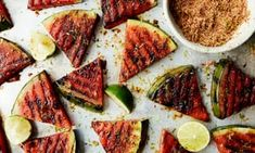 Melon doesn't just have to be dessert – it makes a refreshing salad with chilli, wine and vinegar. Or grill it with spice and lime Melon Recipes, Fruit Recipes, Summer Recipes, Sweet Recipes, Anna Jones Recipes, Grilled Watermelon, Beans On Toast, Vegetarian Recipes, Cooking Recipes