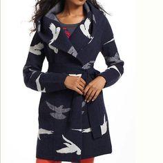 Morning Birds Sweater Coat S