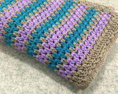 baby girl blanket set crochet granny door DonnasPinsandNeedles