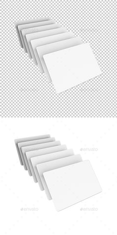Business cards on white background. Mock up. High quality 3d rendered and fine tuned in Photoshop.  Resolution: 60006000px, 300